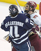 Jerry Pollastrone, Peter Harrold - The Boston College Eagles and University of New Hampshire earned a 3-3 tie on Thursday, March 2, 2006, on Senior Night at Kelley Rink at Conte Forum in Chestnut Hill, MA.  Boston College honored its three seniors, captain Peter Harrold and alternate captains Chris Collins and Stephen Gionta, before the game.