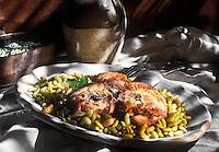 Gastronomie générale / Cuisine générale :  Collier d'agneau aux flageolets