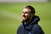 6th February 2019, Dens Park, Dundee, Scotland; Ladbrokes Premiership football, Dundee versus Kilmarnock; Stephen O'Donnell of Kilmarnock inspects the pitch before the match