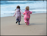 BNPS.co.uk (01202 558833)<br /> Pic: PhilYeomans/BNPS<br /> <br /> Kids getting there first taste of summer...<br /> <br /> Spring has finally arrived on Bournemouth beach today...and it looks like it could be here to stay.