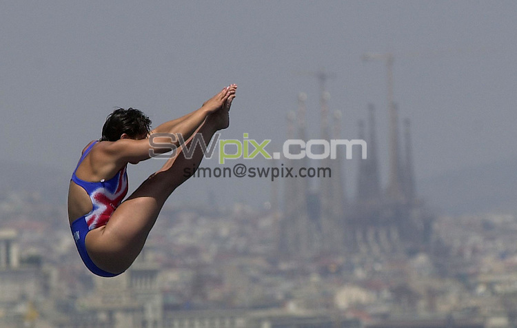 Pix: Matthew Lewis/SWpix.com. Diving. 10th Fina World Championships 2003, Barcelona. 15/07/2003...COPYRIGHT PICTURE>>SIMON WILKINSON>>01943 436649>>..Great Britain's Karen Smith.