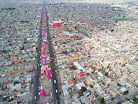 A tianguis (street market) near the Guerrero Chimali, Chimalhuacan, Nezahualcoyotl, Estado de Mexico, Mexico
