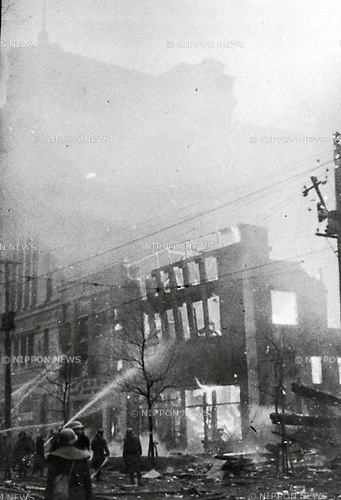 Tokyo, Japan - Bombing of Tokyo in World War II, Circa 1944. (Photo by Kingendai Photo Library/AFLO)