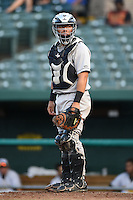 Dayton Dragons catcher Jose Ortiz (13) during a game against the South Bend Silver Hawks on August 20, 2014 at Four Winds Field in South Bend, Indiana.  Dayton defeated South Bend 5-3.  (Mike Janes/Four Seam Images)
