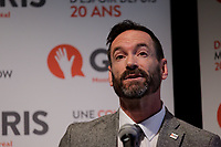 Montreal, CANADA - File Photo - David E. Platts, President, GRIS Montreal  speak at a News conference on September 19, 2014.