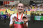 Wales Elinor Barker celebrates winning silver <br /> <br /> Photographer Ian Cook/Sportingwales<br /> <br /> 20th Commonwealth Games - Cycling -  Day 4 - Sunday 27th July 2014 - Glasgow - UK