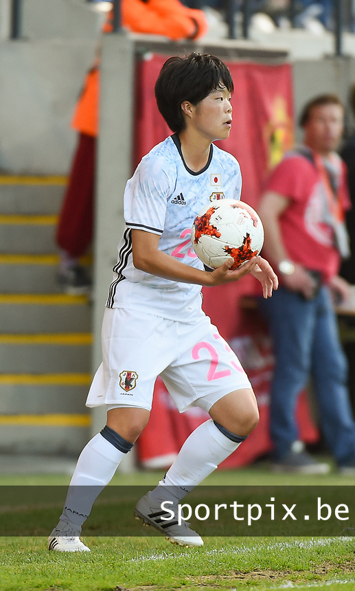 20170613 - LEUVEN ,  BELGIUM : Japanese Nana Ichise pictured during the female soccer game between the Belgian Red Flames and Japan , a friendly game before the European Championship in The Netherlands 2017  , Tuesday 13 th Juin 2017 at Stadion Den Dreef  in Leuven , Belgium. PHOTO SPORTPIX.BE | DIRK VUYLSTEKE