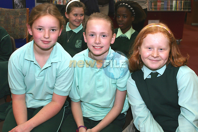 Sorcha Grogan, Claire Murray and Aoibhinn Ryan at the Poetry Reading for Kids in Drogheda Library...Photo NEWSFILE/Jenny Matthews.(Photo credit should read Jenny Matthews/NEWSFILE)....This Picture has been sent you under the condtions enclosed by:.Newsfile Ltd..The Studio,.Millmount Abbey,.Drogheda,.Co Meath..Ireland..Tel: +353(0)41-9871240.Fax: +353(0)41-9871260.GSM: +353(0)86-2500958.email: pictures@newsfile.ie.www.newsfile.ie.FTP: 193.120.102.198.