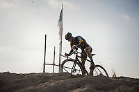 on top of the sand dune<br /> <br /> Elite Men's Race<br /> Soudal Jaarmarktcross Niel 2016