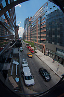 From the High Line Access, Lower West Side, Manhattan, New York, US