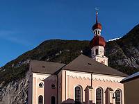 Pfarrkirche in Nassereith. Gurgltal in Tirol, Österreich, Europa<br /> parish church in  Nassereith, , district Imst, Tyrol, Austria, Europe