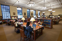 Interior photo of the Mary Norton Clapp Library on September 19, 2012.<br /> (Photo by Marc Campos, Occidental College Photographer)