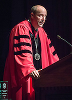 Occidental College President Jonathan Veitch speaks to incoming first-year students during Convocation, the formal gathering that marks the beginning of the academic year, August 27, 2014 in Thorne Hall. (Photo by Marc Campos, Occidental College Photographer)
