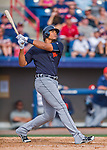5 March 2016: Detroit Tigers outfielder Steven Moya in action during a Spring Training pre-season game against the Washington Nationals at Space Coast Stadium in Viera, Florida. The Tigers fell to the Nationals 8-4 in Grapefruit League play. Mandatory Credit: Ed Wolfstein Photo *** RAW (NEF) Image File Available ***