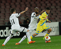 Lorenzo Insigne<br /> <br />  UEFA Europa League round of 32 second  leg match, betweenAC  Napoli  and Swansea City   at San Paolo stadium in Naples, Feburary 27 , 2014