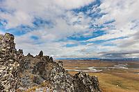 Etivluk river and the Brooks Range mountains, viewed from Puvakrat mountain, National Petroleum Reserve, Alaska.