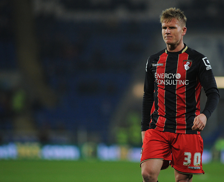Bournemouth's Matt Ritchie in action during todays match  <br /> <br /> Photographer Kevin Barnes/CameraSport<br /> <br /> Football - The Football League Sky Bet Championship - Cardiff v Bournemouth - Tuesday 17th March 2015 - Cardiff City Stadium - Cardiff<br /> <br /> &copy; CameraSport - 43 Linden Ave. Countesthorpe. Leicester. England. LE8 5PG - Tel: +44 (0) 116 277 4147 - admin@camerasport.com - www.camerasport.com