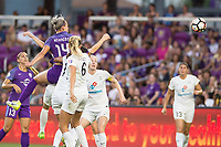 Orlando, FL - Saturday July 15, 2017: Alanna Kennedy, Katie Bowen during a regular season National Women's Soccer League (NWSL) match between the Orlando Pride and FC Kansas City at Orlando City Stadium.