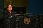 Malaysia<br /> <br /> General Assembly Seventy-first session, 25th plenary meeting<br /> 1.  Organization of work, adoption of the agenda and allocation of items: Documentation for the election of the members of the International Law Commission: review of the list of candidates [item 7]<br /> 2.  Implementation of the resolutions of the United Nations [item 120] Revitalization of the work of the General Assembly [item 121]<br />      Joint debate