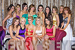 Contestants at the Miss Universe Kerry 2009 Grand Final Friday in Fabric Tralee..Front Row: Jade Arthurs, Shauna O'Connell, Kerri O'Connor, Catherine Sexton and Aoife Clifford..Aifric Rice Irene O'Neill, Aoife O;Neill, Rachel Gleasure, Noelle O;Riordan, Caroline Prendeville, Michelle Hurley, Eilish Spillane and Melissa Maunsell.