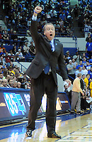 February 7, 2015 - Colorado Springs, Colorado, U.S. -  Air Force head coach, Dave Pilipovich, leads his Falcons to their second upset victory in a week during an NCAA basketball game between the University of Wyoming Cowboys and the Air Force Academy Falcons at Clune Arena, U.S. Air Force Academy, Colorado Springs, Colorado.  Air Force soars to a 73-50 win over Wyoming.
