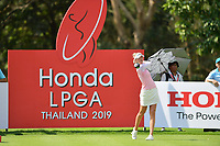PATTAYA, THAILAND - FEBRUARY 22: Nelly Korda of USA on the 9th tee during the second round of the Honda LPGA Thailand 2019 at Siam Country Club Pattaya (Old Course), Pattaya, Thailand on February 22, 2019.<br /> .<br /> .<br /> .<br /> (Photo by: Naratip Golf Srisupab/SEALs Sports Images)<br /> .<br /> Any image use must include a mandatory credit line adjacent to the content which should read: Naratip Golf Srisupab/SEALs Sports Images
