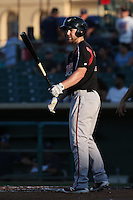 Michael Gettys (23) of the Lake Elsinore Storm bats against the Lancaster JetHawks at The Hanger on August 2, 2016 in Lancaster, California. Lake Elsinore defeated Lancaster, 10-9. (Larry Goren/Four Seam Images)