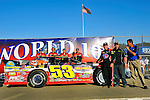 Sep 12, 2009; 6:18:09 PM; Rossburg, OH., USA; The 39th annual running of the World 100 Dirt Late Models racing for the Globe trophy at the Eldora Speedway.  Mandatory Credit: (thesportswire.net)