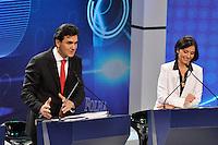 OSASCO, SP, 03 SETEMBRO DE 2012 – DEBATE REDETV – ATENÇÃO EDITOR: FOTO EMBARGADA PARA VEÍCULOS INTERNACIONAIS: Candidato a prefeitura de São Paulo Chalita (e) e Soninha (d) durante debate realizado na noite desta segunda feira (03) pela RedeTV, na sede da emissora em Osasco. (FOTO: LEVI BIANCO / BRAZIL PHOTO PRESS).
