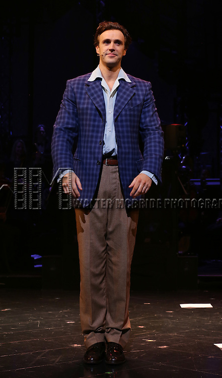 Michael Xavier during the Opening Night Curtain Call bows for Andrew Lloyd Webber's 'Sunset Boulevard' at the Palace Theatre on February 9, 2017 in New York City.