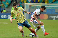 SALVADOR – BRASIL, 23-06-2019:  James Rodríguez durante partido de la Copa América Brasil 2019, grupo B, entre Colombia y Paraguay jugado en el Arena Fonte Nova de Salvador, Brasil. /James Rodriguez during the Copa America Brazil 2019 group B match between Colombia and Paraguay played at Fonte Nova Arena in Salvador, Brazil. Photos: VizzorImage / Julian Medina / Cont /