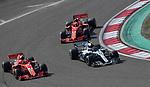 15.04.2018, Shanghai Audi International Circuit, Shanghai, 2018 FORMULA 1 HEINEKEN CHINESE GRAND PRIX, 12.04. - 15.04.2018<br /> im Bild<br />Kimi Raikkonen (FIN#7), Scuderia Ferrari, Valtteri Bottas (FIN#77), Mercedes AMG Petronas Formula One Team, Sebastian Vettel (GER#5), Scuderia Ferrari<br /> <br /><br /> <br /> Foto &copy; nordphoto / Bratic