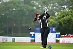 Agnes Retno Sudjasmin of Indonesia tees off on the 1st hole during the Round 1 of the Faldo Series Asia Grand Final at Mission Hills on March 2, 2011 in Shenzhen, China. Photo by Raf Sanchez / Faldo Series
