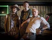 Logan Lucky (2017) <br /> Daniel Craig, Brian Gleeson &amp; Jack Quaid<br /> *Filmstill - Editorial Use Only*<br /> CAP/KFS<br /> Image supplied by Capital Pictures
