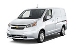 2017 Chevrolet City Express LT 5 Door Cargo Van Angular Front stock photos of front three quarter view