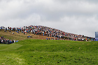 Part of the crowd during the Saturday Fourball Matches of the Ryder Cup at Gleneagles Golf Club on Saturday 27th September 2014.<br /> Picture:  Thos Caffrey / www.golffile.ie