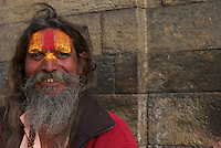 Sadhu at Shambhu Nath Hindu traditional Cremation Area
