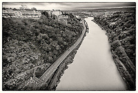 View of River Avon from Clifton Suspension Bridge, Bristol.