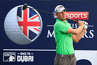 Marcel Siem (GER) on the 2nd tee during Round 3 of the Sky Sports British Masters at Walton Heath Golf Club in Tadworth, Surrey, England on Saturday 13th Oct 2018.<br /> Picture:  Thos Caffrey | Golffile