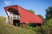 Holliwell Bridge is a wooden covered bridge in Madison County, Iowa. It was built over the Middle River in 1880 by Benton Jones.<br /> <br /> The bridge is no longer in use, but was renovated and restored in 1995 at a cost of $225,000 ($354,000 today). It is featured in the film The Bridges of Madison County. It was added to the National Register of Historic Places in 1976.