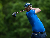 24.05.2015. Wentworth, England. BMW PGA Golf Championship. Final Round.  Gregory Havret [FRA] Tee shot on the 3rd hole during the final round of the 2015 BMW PGA Championship from The West Course Wentworth Golf Club