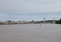 General view of the River Garonne, Bordeaux, Nouvelle-Aquitaine, France on 16.10.19.