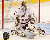 Katie Burt (BC - 33) - The number one seeded Boston College Eagles defeated the eight seeded Merrimack College Warriors 1-0 to sweep their Hockey East quarterfinal series on Friday, February 24, 2017, at Kelley Rink in Conte Forum in Chestnut Hill, Massachusetts.The number one seeded Boston College Eagles defeated the eight seeded Merrimack College Warriors 1-0 to sweep their Hockey East quarterfinal series on Friday, February 24, 2017, at Kelley Rink in Conte Forum in Chestnut Hill, Massachusetts.