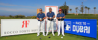 Massimo Calcara, Filippo Alessi and Giuseppe Russo (AM) playing with Andy Sullivan (ENG) on the 11th tee during the Pro-Am of the Rocco Forte Sicilian Open 2018 on Wednesday 4th May 2018.<br /> Picture:  Thos Caffrey / www.golffile.ie<br /> <br /> All photo usage must carry mandatory copyright credit (&copy; Golffile | Thos Caffrey)