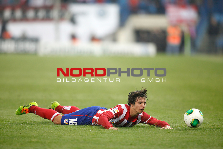 Atletico de Madrid¬¥s Oliver during Copa del Rey 2013-14 match at Vicente Calderon Stadium in Madrid, Spain. Foto © nordphoto / Victor Blanco) *** Local Caption ***