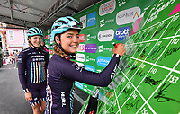 Picture by SWpix.com 13/06/2018 - Cycling - The 2018 OVO Energy Women's Tour - Stage 1: Framlingham to Southwold - Suffolk, England - Trek Drops at race sign on, Abby-Mae Parkinson