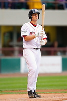 Ryan Lavarnway #36 of the Pawtucket Red Sox steps up to the plate against the Charlotte Knights at McCoy Stadium on June 14, 2011 in Pawtucket, Rhode Island.  The Knights defeated the Red Sox 4-2 in 11 innings.    Photo by Brian Westerholt / Four Seam Images