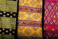 Textiles for sale at Black Crane Festival, Phobjika Monastery.