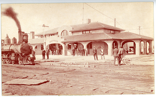 Postcard with #168 at Gunnison depot.<br /> D&amp;RG  Gunnison, CO  9/23/1909