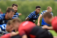 Levi Douglas of Bath Rugby looks on. Bath Rugby pre-season training on August 8, 2018 at Farleigh House in Bath, England. Photo by: Patrick Khachfe / Onside Images